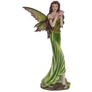 Grande figurine fée verte de la collection Flower Fairies
