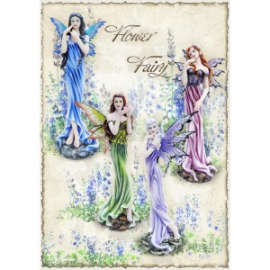 4 grandes figurines de fées « Flower Fairies »
