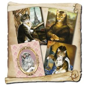 4 cahiers chats historiques de Séverine Pineaux Les Histochats, éditions Au Bord des Continents...