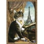 Carte postale de chat historique de Séverine Pineaux, Gustave Eiffélin - Histochats 2019.