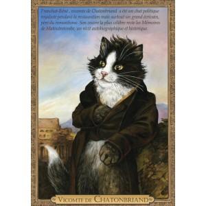Carte postale de chat historique de Séverine Pineaux, Vicomte de Chatonbriand - Histochats 2019.