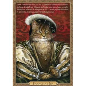Carte postale de chat historique de Séverine Pineaux, Franchat 1er - Histochats 2019.