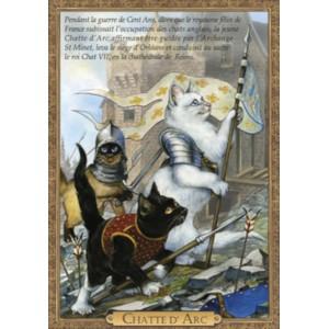 Carte postale de chat historique de Séverine Pineaux, Chatte d'Arc - Histochats 2019.