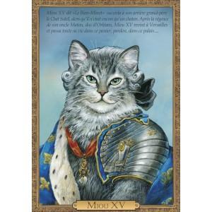 Carte postale de chat historique de Séverine Pineaux, Miou XV - Histochats 2019.