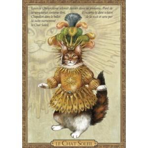 Carte postale de chat historique de Séverine Pineaux, Le Chat Soleil danse - Histochats 2019.