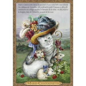 Carte postale de chat historique de Séverine Pineaux, Marie-Chatounette - Histochats 2019.