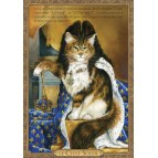 Carte postale de chat historique de Séverine Pineaux, Le Chat Soleil - Histochats 2019.
