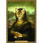 Carte postale de chat historique de Séverine Pineaux, Mona Lichat – Histochats 2019.