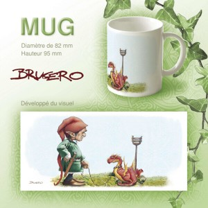 Mug Dragon en promenade de Brucero
