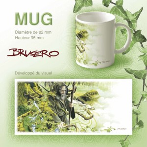 Mug original Merlin le druide de Brucero