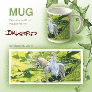 Mug fée et le cheval blanc de Brucero