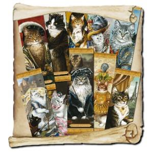 Histochats 2019, 10 marques pages de chats historiques de Séverine Pineaux