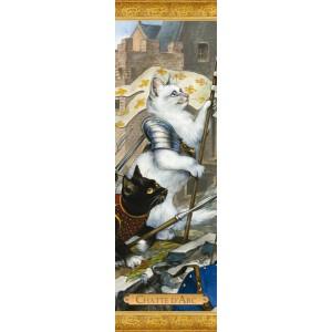 Marque page chat de Séverine Pineaux: Chatte d'Arc, coll. Histochats