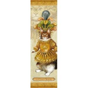Marque page chat de Séverine Pineaux: Le Chat Soleil danse, coll. Histochats