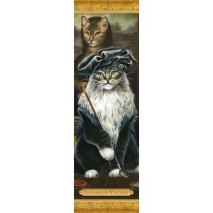 Marque page chat de Séverine Pineaux: Léonard de Vincha, coll. Histochats