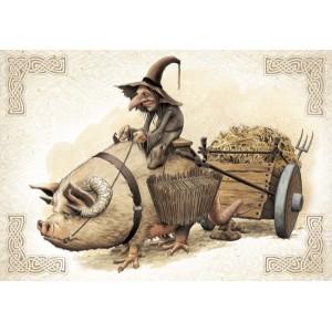 Le Bousard, carte postale féerique de Brucero