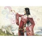 La Fée Morgane, carte postale féerique de Brucero