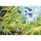 L'entrée de la forêt, carte postale féerique de Brucero