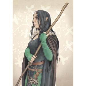 Arthmaëlla au bâton, carte postale féerique de Brucero