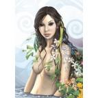 La fée tatouée, carte postale féerique de Brucero
