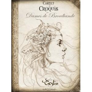 Carnet de croquis des Dames de Brocéliande de Sandrine Gestin