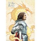 Arthur, fils d'Uther Pendragon, Roi des Bretons et des chevaliers de la Table Ronde, carte postale féerique de Brucero