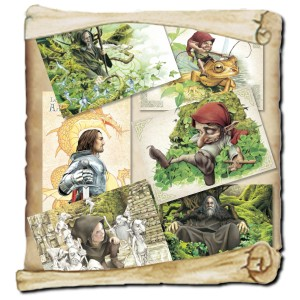 6 cartes postales de Brucero: Le livre secret de Merlin