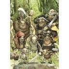 La compagnie des Nains, carte postale féerique de Brucero