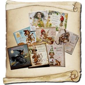 8 cartes de vœux doubles de Brucero et leurs enveloppes