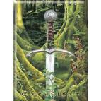 Magnet déco Excalibur de Brucero, collection Légende Arthurienne