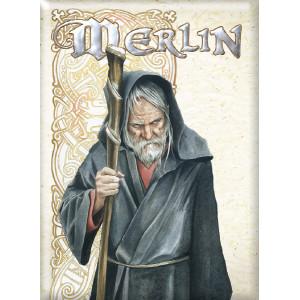 Magnet déco Merlin de Brucero, collection Légende Arthurienne