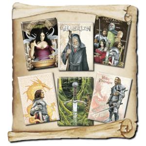 6 Magnets déco de Brucero: Légende Arthurienne