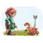 Carte postale de Brucero: La promenade de «toutou-dragon»