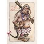 Carte postale de Brucero: Le Grog mitaine
