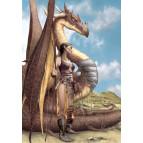 Carte postale de Brucero: L'Elfe et son dragon