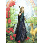 Carte postale de Brucero: Prêtresse d'Avalon et le cerf d'or