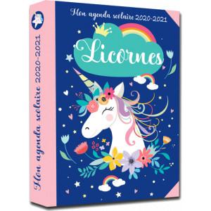 Mon agenda scolaire 2020-2021 Licornes, éditions 365