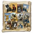 12 cartes postales de chats historiquesde Séverine Pineaux : Histochats 2020