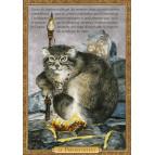 Carte postale chat historique de Séverine Pineaux, Le Préhistochat – Histochats 2020