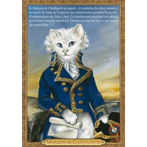 Carte postale chat historique de Séverine Pineaux, Marquis de Chatfayette – Histochats 2020