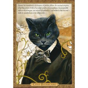Carte postale chat historique de Séverine Pineaux, Chat Baudelaire – Histochats 2020