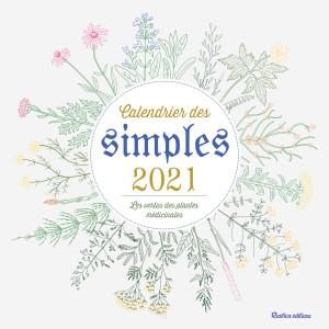 Calendrier des Simples 2021 de Erika Laïs, calendrier mural Rustica éditions