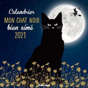 Calendrier Mon chat noir bien aimé 2021 de Nathalie Semenuik, calendrier mural Rustica éditions