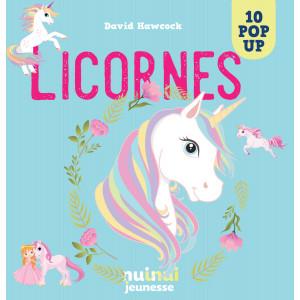 Licornes 10 pop-up de David Hawcock, éditions Nui-Nui jeunesse
