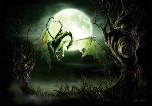Dragon Lune 2, carte postale de Elian Black'Mor - Piste des Dragons