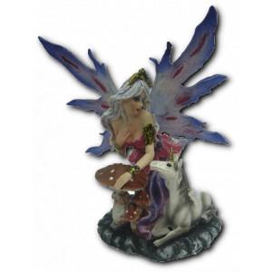 Petite figurine fée et licorne