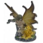 Petite figurine fée et lion