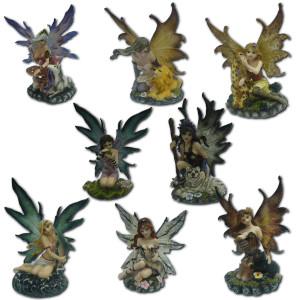 Collection de 8 figurines fées et animaux