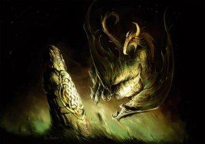 Dragon Empereur, carte postale de Elian Black'Mor - Piste des Dragons