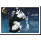 Carte postale Chat Verseau de Séverine Pineaux – Chats du Zodiaque